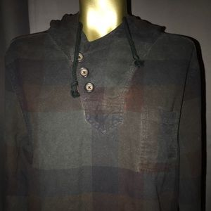 Cohesive and co plaid hooded shirt
